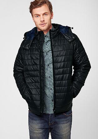 Prešita jakna s toplo medvlogo