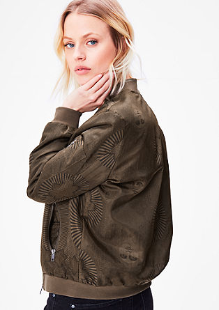 Print bomber jacket from s.Oliver