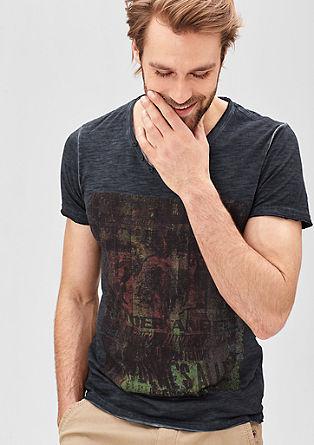Print-Shirt im Garment Dye-Look