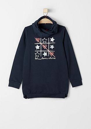 Print-Sweater mit Turtleneck