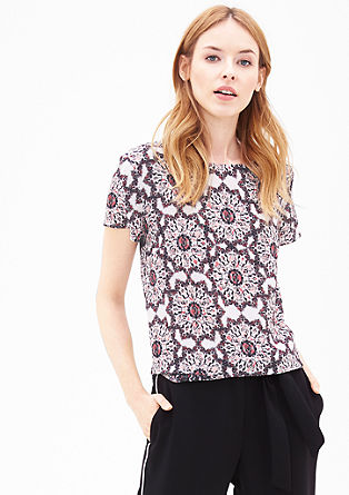 Print top in a layered look from s.Oliver