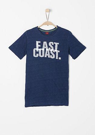 Printed shirt met geweven structuur