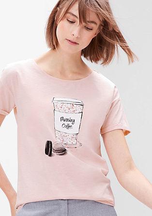 Printed shirt van slubgaren