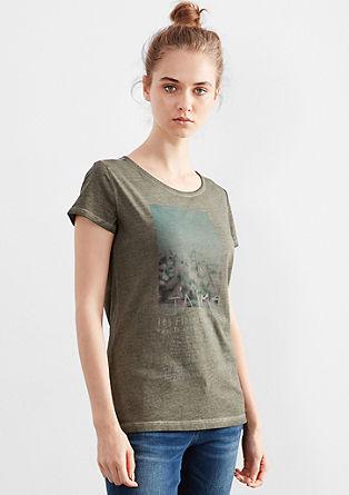 Printshirt im Garment Dye