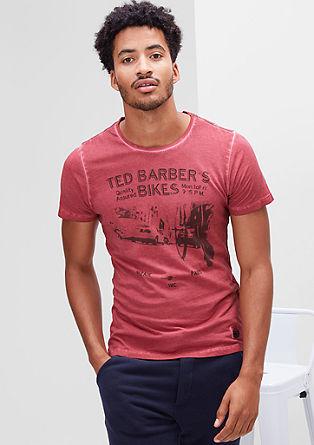 Printshirt mit Garment Dye