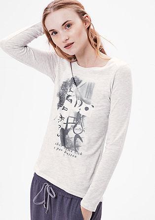 Printshirt mit Glitzersteinen