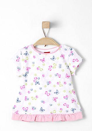 Printshirt mit Rüschen