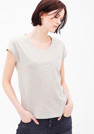 Proužkované žerzejové tričko