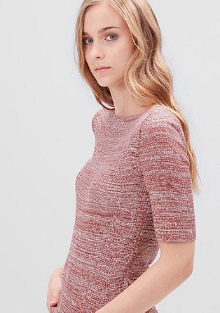 Pullover aus feinem Rippstrick
