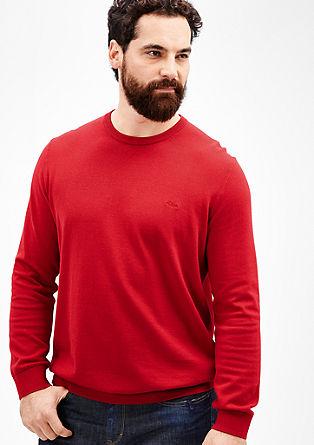 Pullover aus glattem Feinstrick