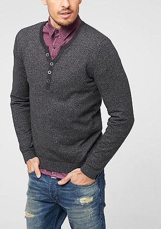 Pullover aus Melange-Garn