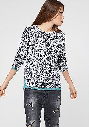Pullover aus meliertem Strick