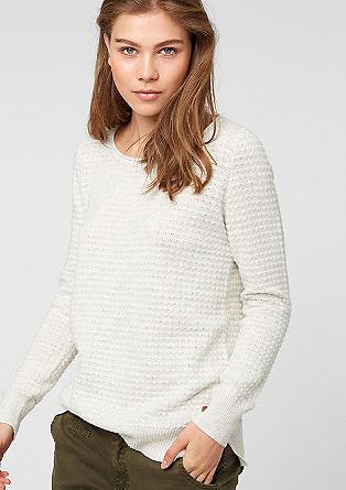 Pullover aus Struktur-Strick