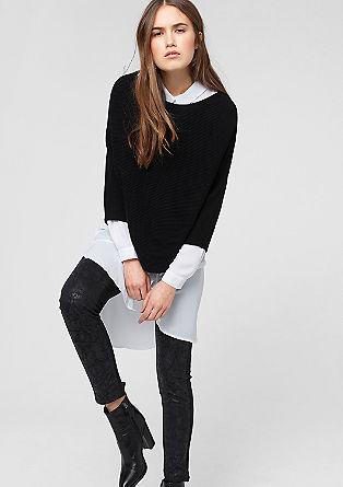 Pullover im Fledermaus-Look