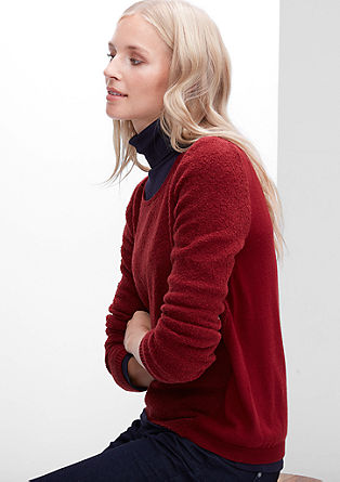 Pullover in Bouclé-Optik