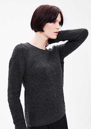Pullover in Bouclé-Strick