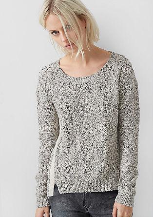 Pullover in Häkel-Optik