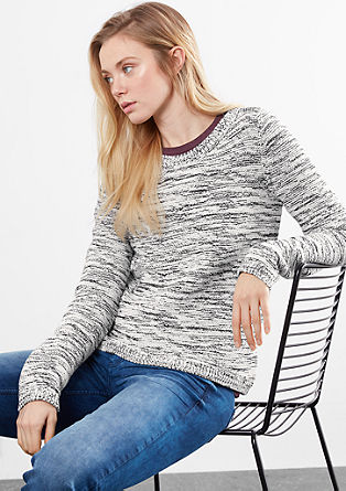 Pullover in melierter Optik