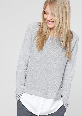 Pullover mit Blusen-Blende