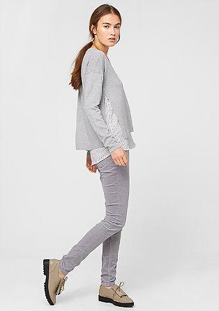 Pullover mit Blusen-Details