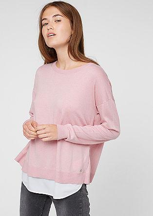 Pullover mit Chiffon-Layering