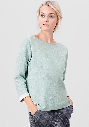 Pullover mit Kontrast-Bündchen