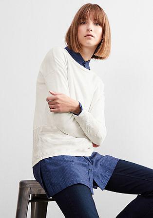 Pullover mit Rippsaum