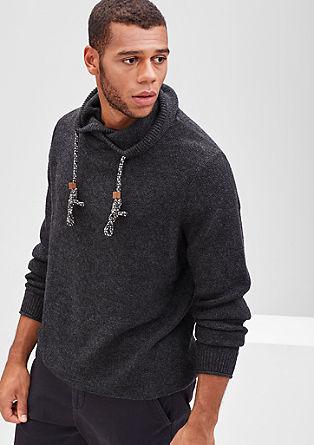 Pullover mit sportivem Schalkragen