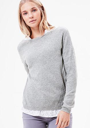 Pullover mit Strukturmuster