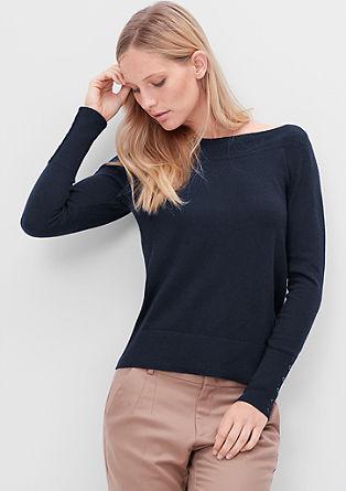 Pullover mit U-Boot-Ausschnitt