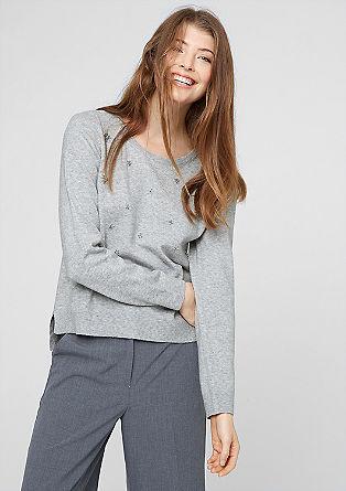 Pullover mit Zierperlen