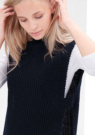 pulover brezrokavnik iz vzorčaste pletenine