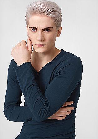 Pulover iz džersija v vintage videzu