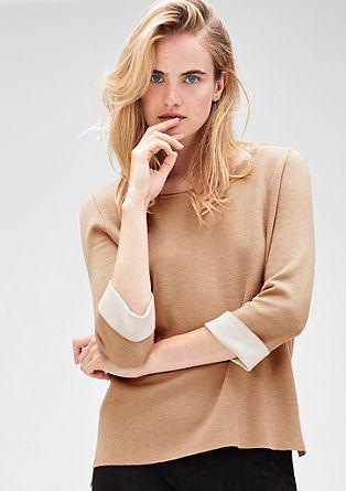 Pulover iz obojestranske pletenine