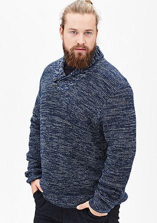Pulover iz pletenine s teksturo