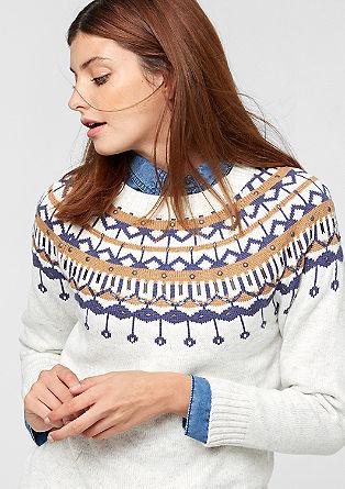 Pulover v norveškem slogu