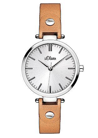 Puristisch horloge met een leren bandje