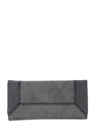 Purse in a leather mix look from s.Oliver