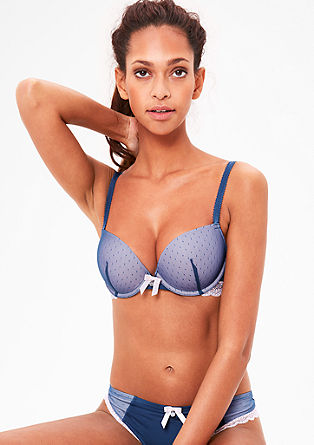Push-up bra in two-tone mesh from s.Oliver