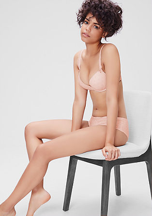 Push-up bra with a minimalist print from s.Oliver