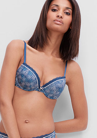 Push-up bra with a printed pattern from s.Oliver