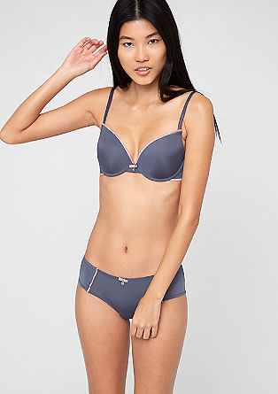 Push-up bra with contrasting trims from s.Oliver