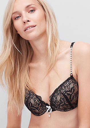 Push-up bra with decorative beads from s.Oliver