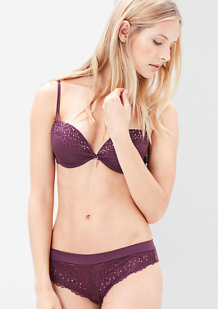 Push-up bra with rhinestone details from s.Oliver