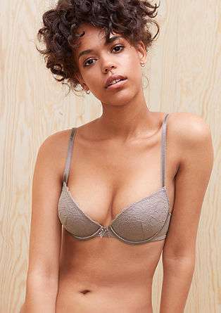Push-up bra with tonal lace from s.Oliver