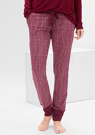 Pyjama bottoms with a wide waistband and leg ends from s.Oliver