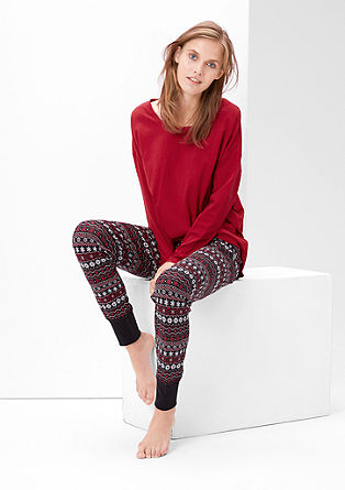 Pyjama met sneeuwvlokjesmotief