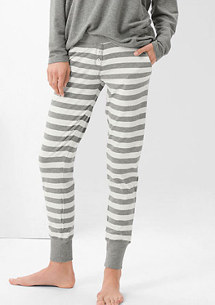 Pyjamabroek met boordjes