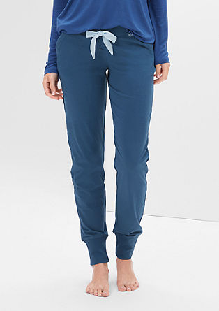 Pyjamabroek met brede boordjes