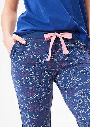 Pyjamahose in 3/4-Länge
